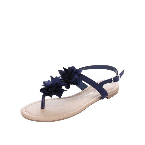 Sandale albastru închis Dorothy Perkins cu aplicații florale de la Dorothy Perkins in categoria sandale