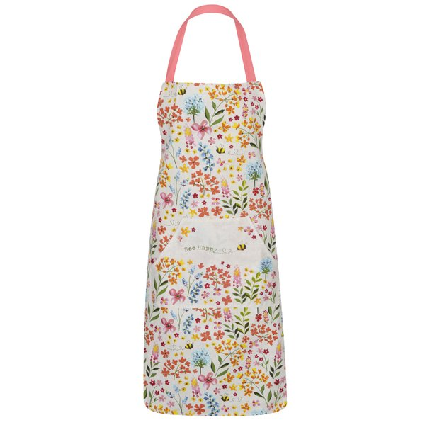 Șorț crem cu model floral Cooksmart