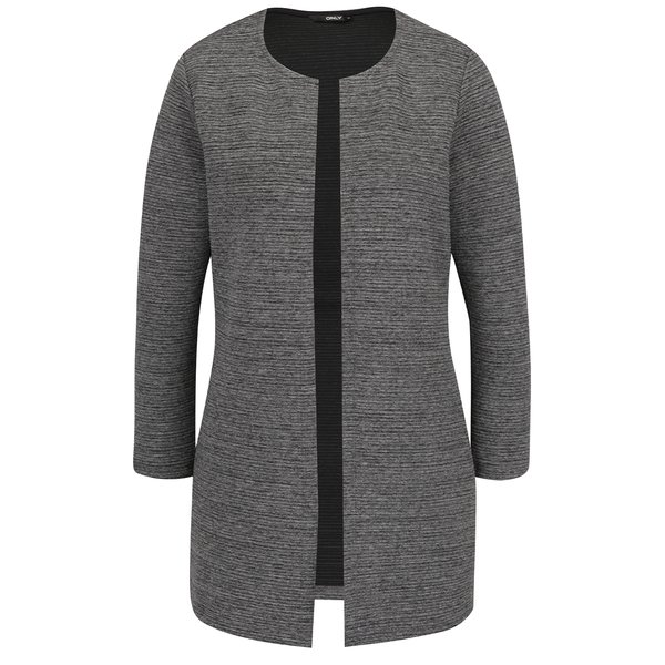 Cardigan gri ONLY Leco cu model cu striații de la ONLY in categoria Pulovere și hanorace
