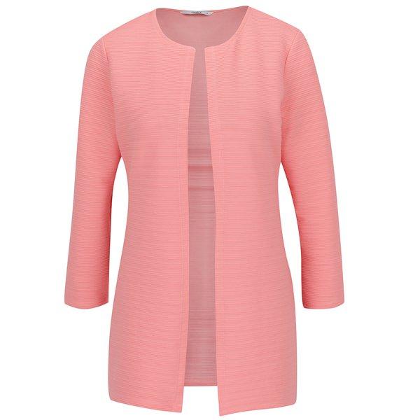 Cardigan roz piersică ONLY Leco cu model cu striații de la ONLY in categoria Pulovere și hanorace
