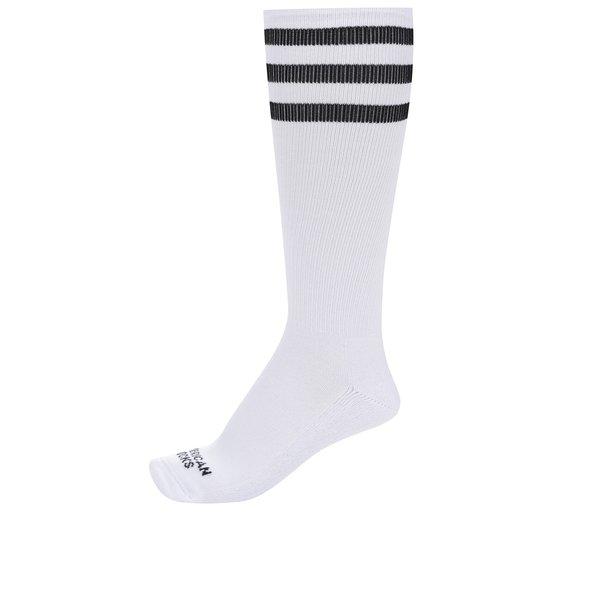 Șosete unisex albe cu dungi negre - American Socks