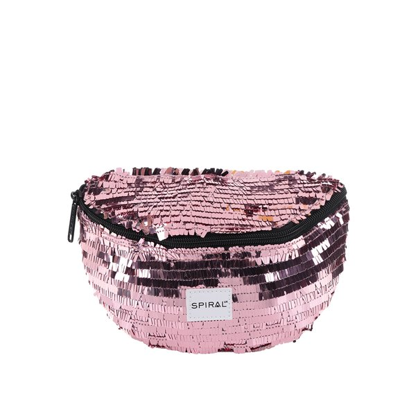 Borsetă roz de damă Spiral Harvard Mum Bag cu paiete de la Spiral in categoria rucsacuri
