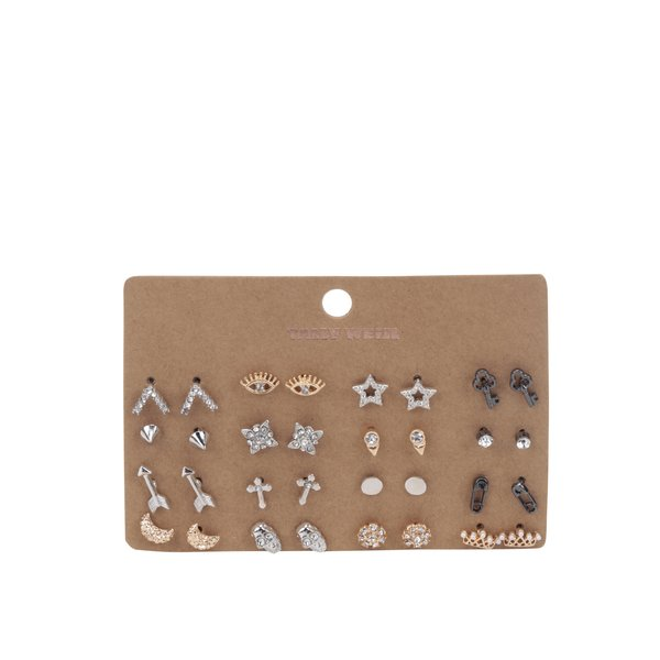 Set 16 perechi de cercei argintii&aurii TALLY WEiJL de la TALLY WEiJL in categoria Ceasuri și bijuterii