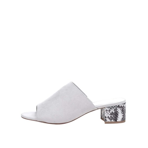 Saboți gri Tamaris cu aspect de piele întoarsă de la Tamaris in categoria pantofi cu toc