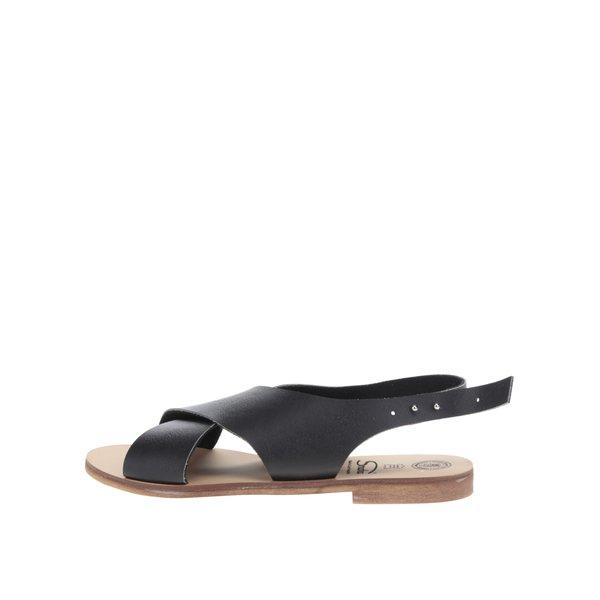 Sandale negre cu barete late Snaha Rio 160 de la SNAHA in categoria sandale