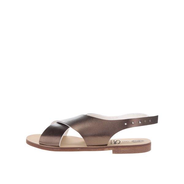 Sandale culorea bronzului cu barete late Snaha Rio 160 de la SNAHA in categoria sandale
