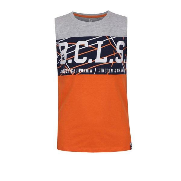 Maiou portocaliu&gri 5.10.15 cu print pentru băieți de la 5.10.15. in categoria Tricouri, camasi