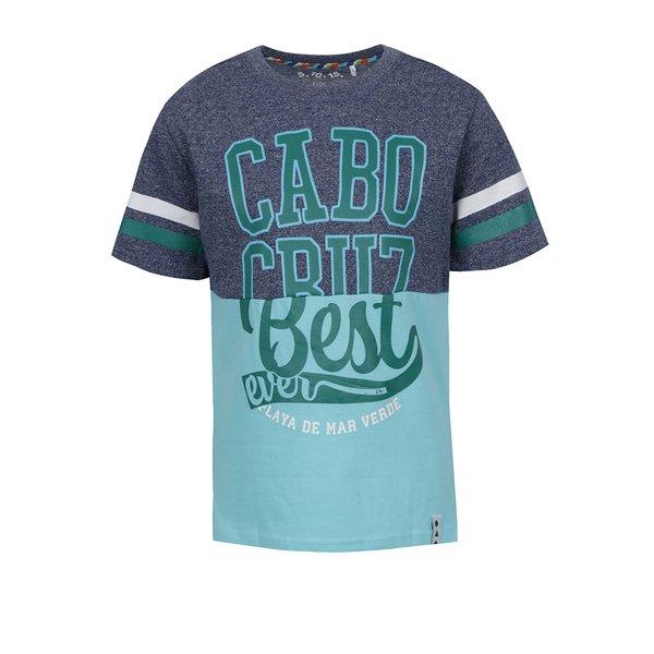 Tricou albastru&gri 5.10.15 cu print pentru băieți de la 5.10.15. in categoria Tricouri, camasi