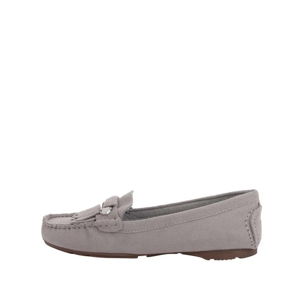 Mocasini gri Tamaris cu franjuri decorative de la Tamaris in categoria pantofi și mocasini