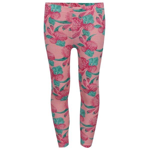 colanti roz 5.10.15 cu imprimeu floral pentru fete