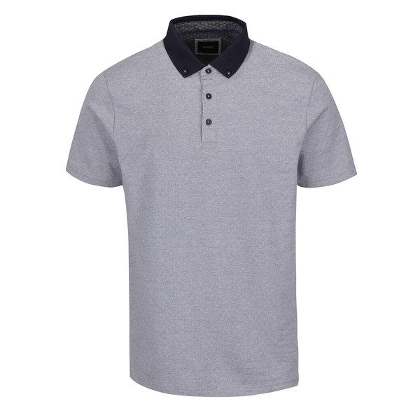 Tricou polo alb&albastru Burton Menswear London din bumbac de la Burton Menswear London in categoria tricouri polo