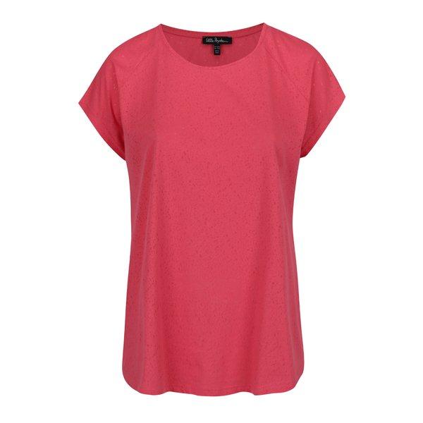 Tricou roșu Ulla Popken cu decolteu rotund de la Ulla Popken in categoria Mărimi curvy