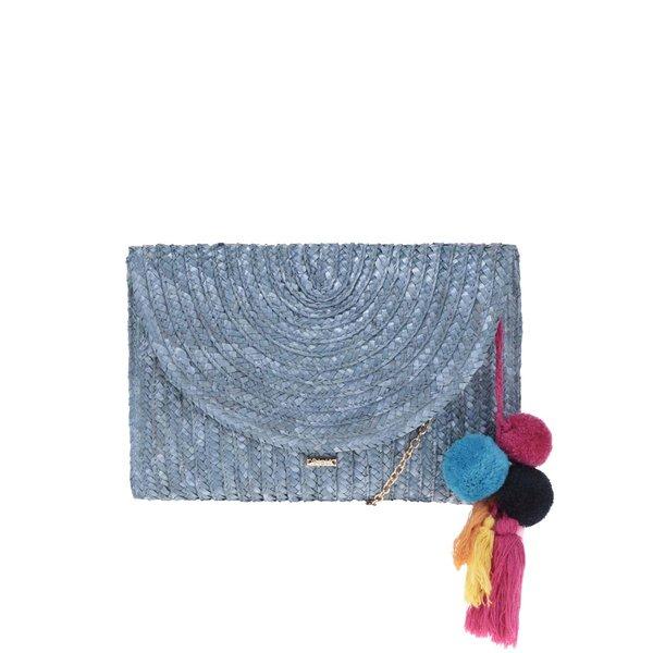 Geantă plic albastră Nalí din rafie