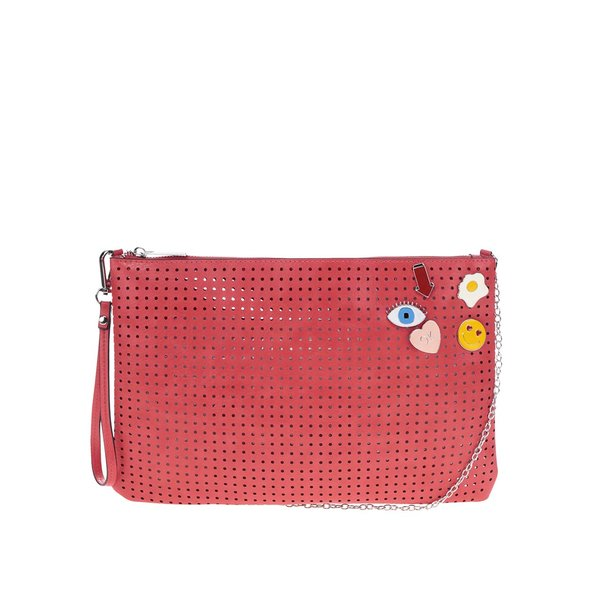 Geantă crossbody roșie Nalí cu model cu perforaț de la Nalí in categoria genți plic