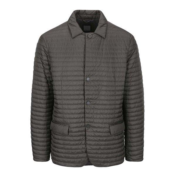 Jachetă gri matlasată impermeabilă Geox de la Geox in categoria Geci, paltoane, jachete
