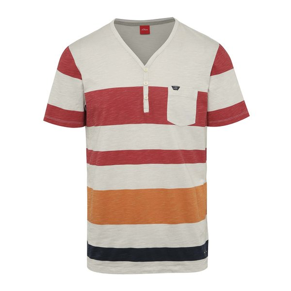 Tricou crem&portocaliu s.Oliver cu model în dungi de la s.Oliver in categoria tricouri