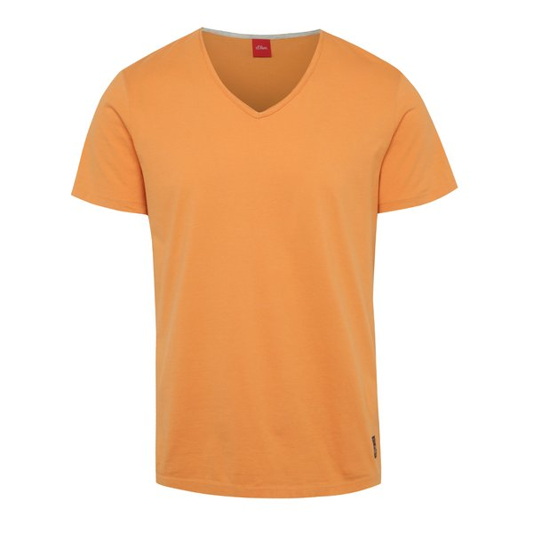 Tricou portocaliu s.Oliver din bumbac de la s.Oliver in categoria tricouri