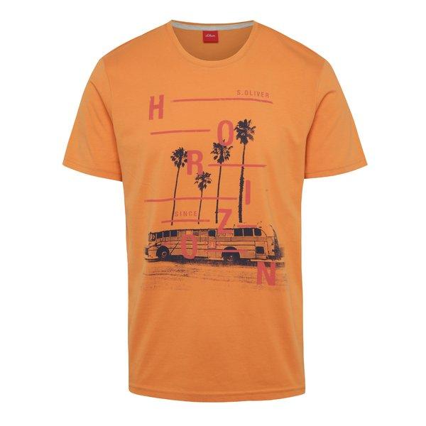 Tricou portocaliu s.Oliver cu imprimeu de la s.Oliver in categoria tricouri