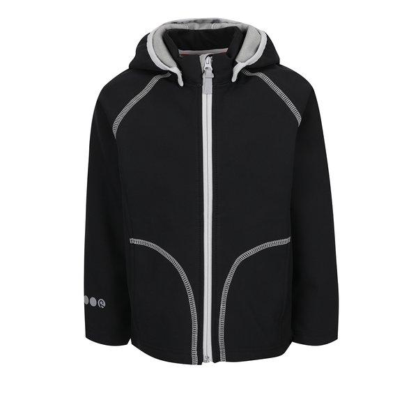 Geacă neagră softshell impermeabilă Reima Vantti pentru copii de la Reima in categoria Geci, jachete, paltoane