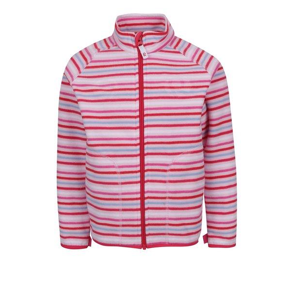 Bluză subțire roz cu model în dungi Reima Inrun pentru fete de la Reima in categoria Pulovere, hanorace