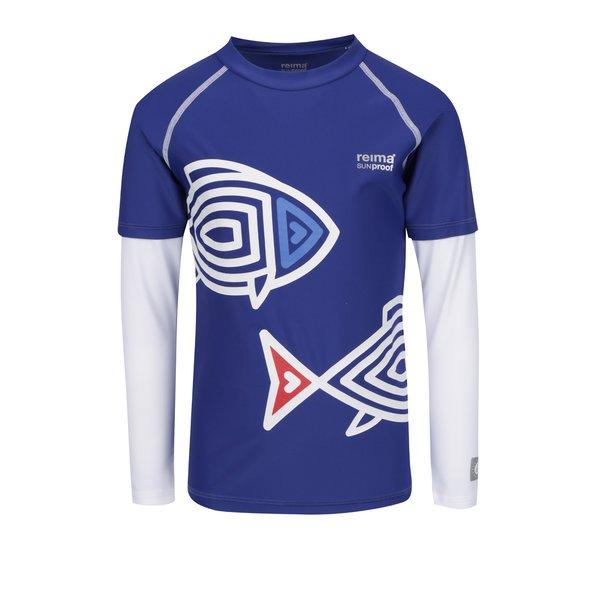 Bluză înot alb&albastru cu print Reima Bay pentru băieți de la Reima in categoria Tricouri, camasi