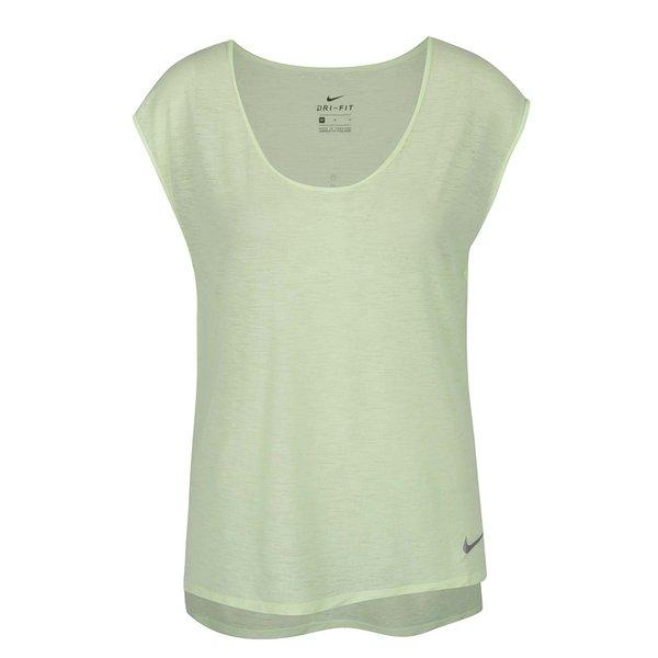 Tricou verde mentă Nike cu tiv asimetric