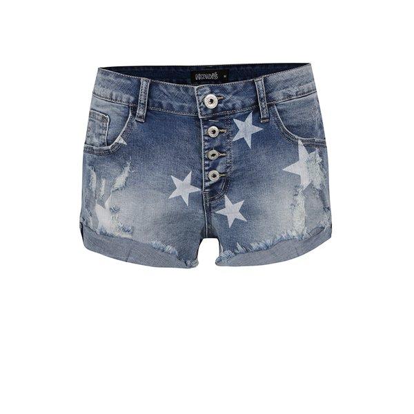 Pantaloni scurți albaștri Haily´s Starry din denim