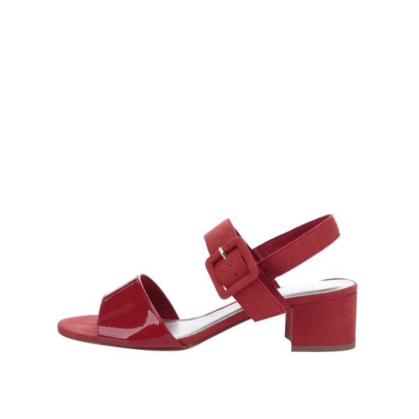 Sandale roșii cu toc gros Tamaris de la Tamaris in categoria sandale