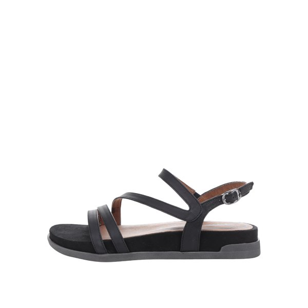 Sandale negre din piele cu platformă Tamaris de la Tamaris in categoria sandale