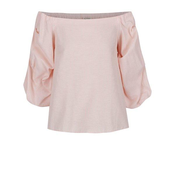 Bluză roz Miss Selfridge cu decolteu pe umeri