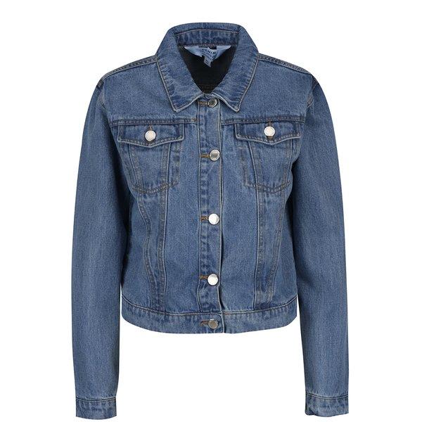 Jachetă albastră crop din denim Miss Selfridge
