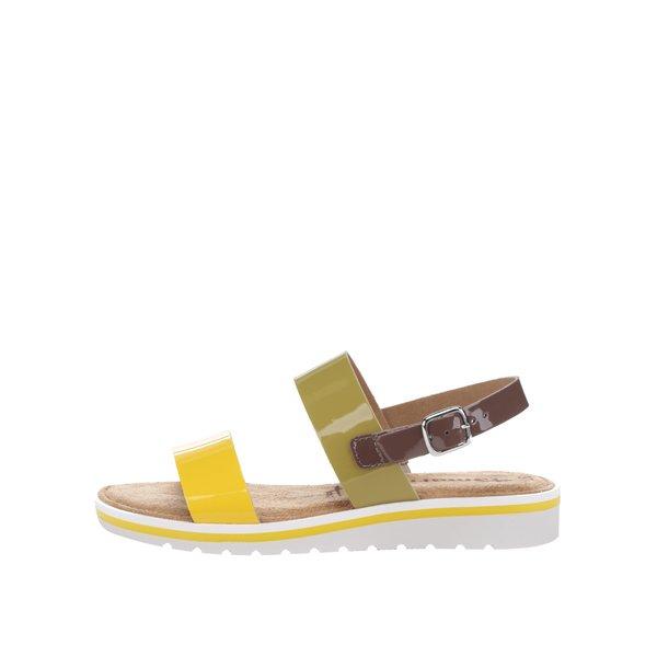Sandale multicolore din piele lăcuită Tamaris