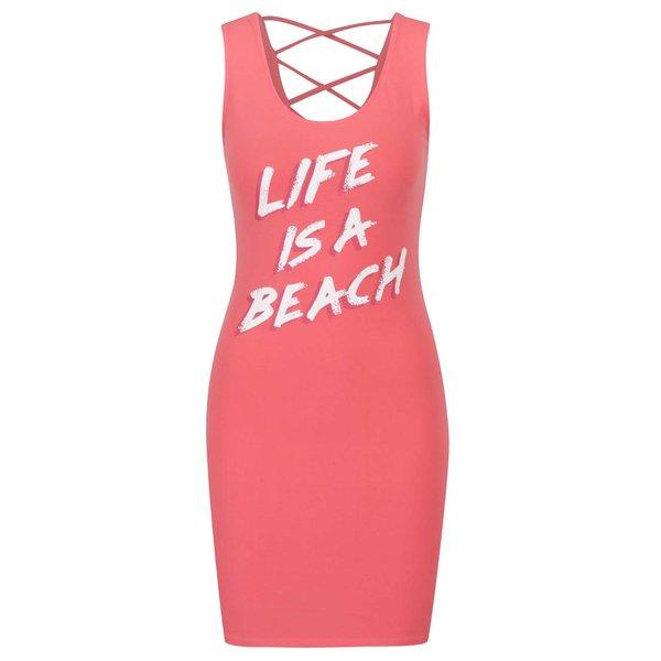 Rochie roz TALLY WEiJL cu print de la TALLY WEiJL in categoria rochii de vară și de plajă