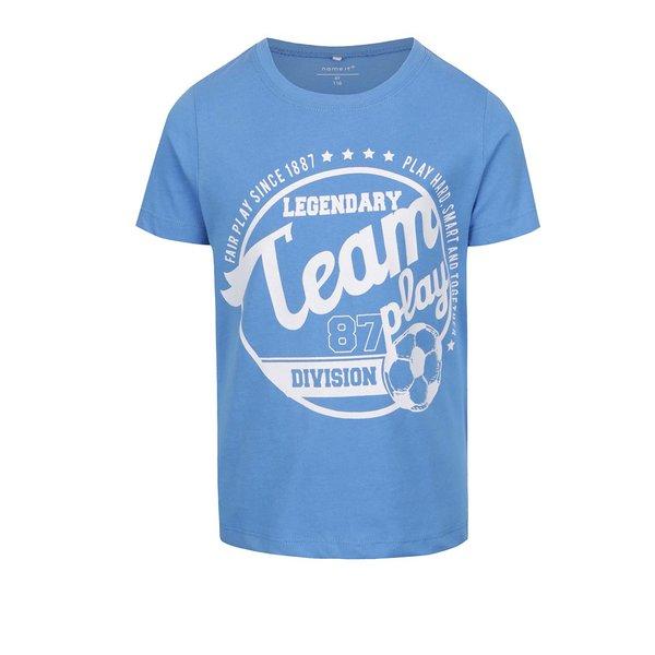 Tricou albastru cu print pentru baieti name it Victorhox