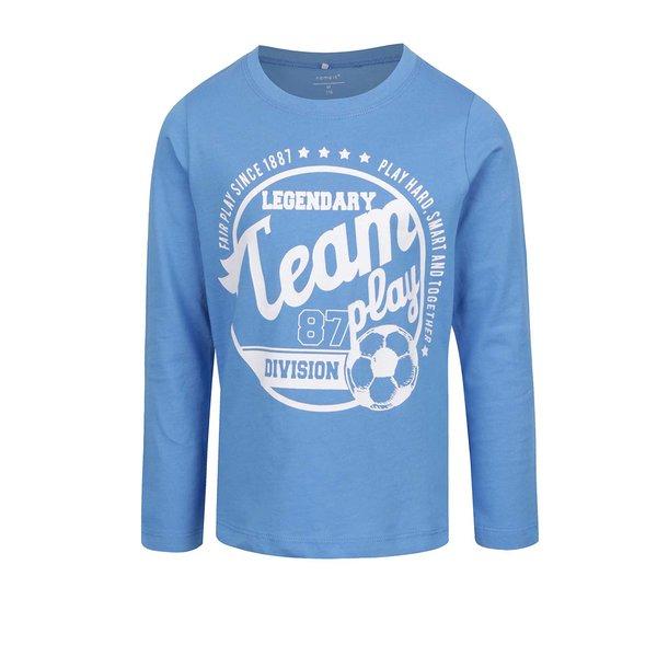 Bluză albastră cu print pentru băieți name it Victorhox