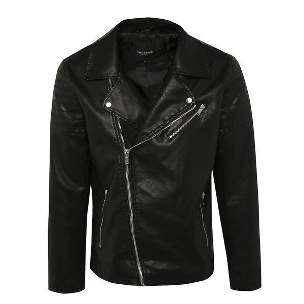 Jachetă de piele artificială ONLY & SONS Steffen de la ONLY & SONS in categoria Geci, paltoane, jachete