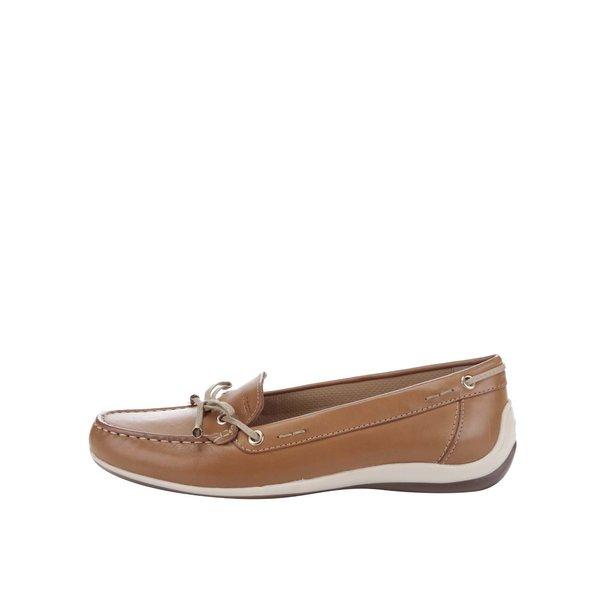 Mocasini maro din piele Geox Yuki de la Geox in categoria pantofi și mocasini