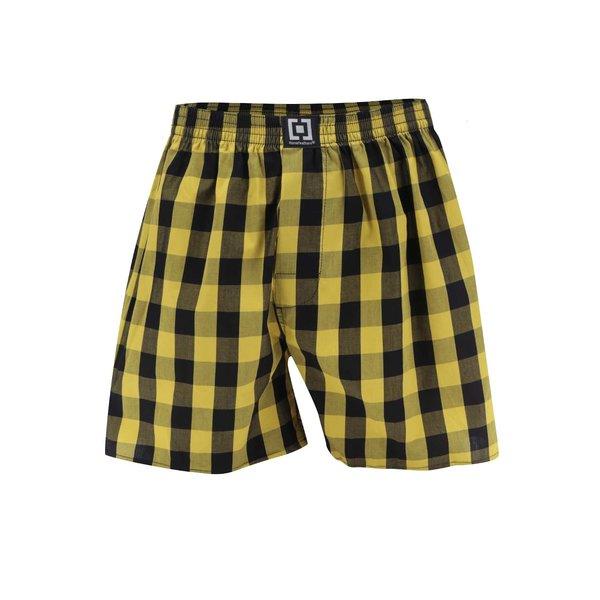 Boxeri negru&galben Horsefeathers Sin cu model în carouri de la Horsefeathers in categoria Lenjerie intimă, pijamale, șorturi de baie