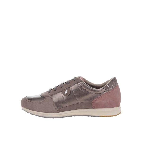 Pantofi sport maro cu detalii din piele întoarsă Geox Avery de la Geox in categoria pantofi sport și teniși