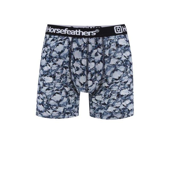 Boxeri negru&albastru Horsefeathers Sidney cu imprimeu de la Horsefeathers in categoria Lenjerie intimă, pijamale, șorturi de baie