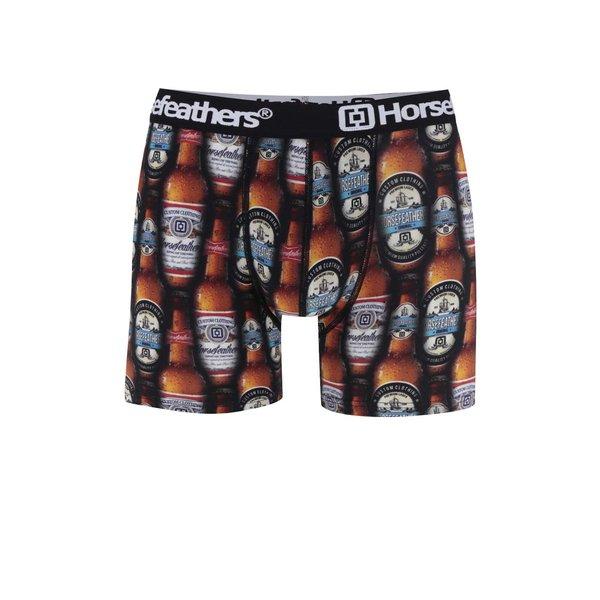 Boxeri negru&maro Horsefeathers Sidney cu imprimeu de la Horsefeathers in categoria Lenjerie intimă, pijamale, șorturi de baie