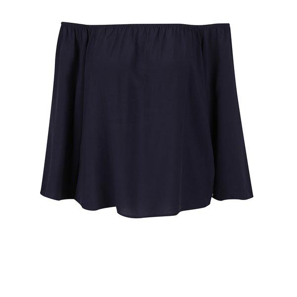 Bluză albastru închis ONLY Nova cu decolteu pe umeri de la ONLY in categoria Topuri, tricouri, body-uri