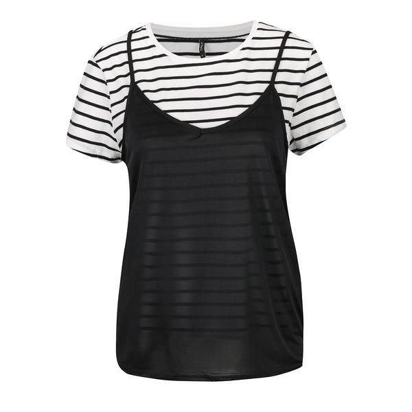 Top alb&negru ONLY New Clora cu aspect 2 în 1