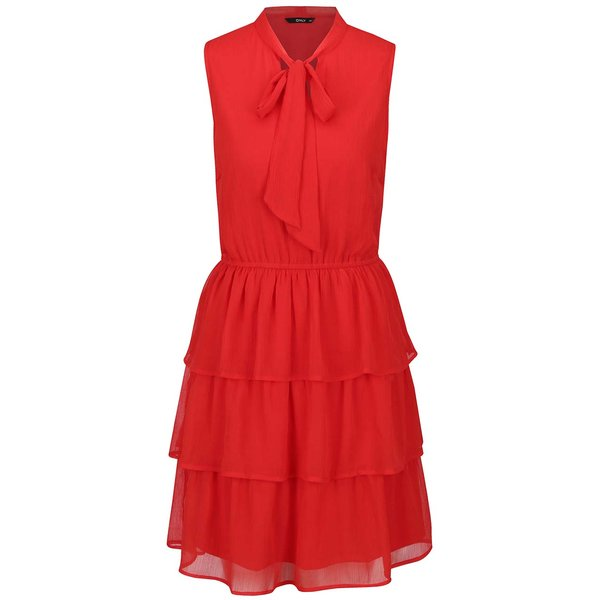 Rochie roșie ONLY Bubba cu volane de la ONLY in categoria rochii de seară