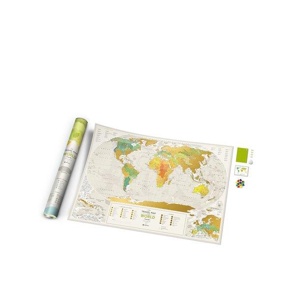 Hartă răzuibilă Travel Map de perete de la Travel Map in categoria Copii
