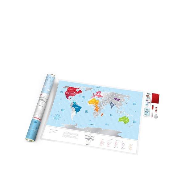 Harta lumii răzuibilă Travel Map de la Travel Map in categoria Copii