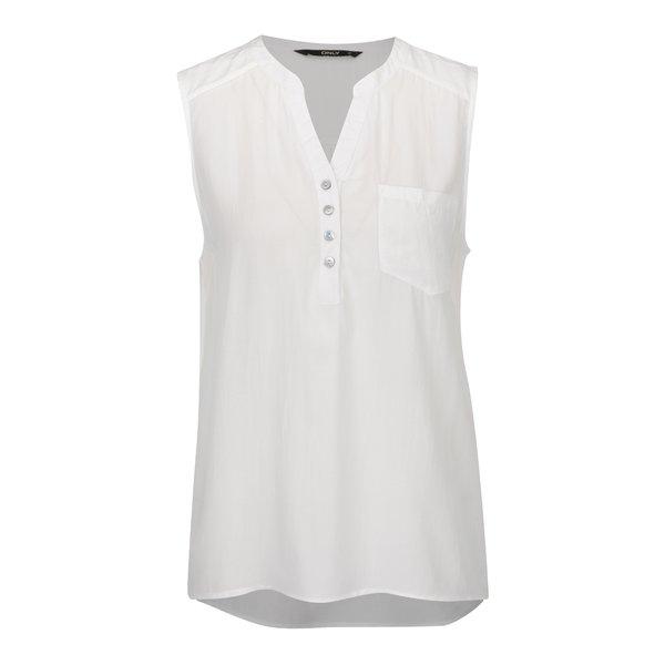 Top alb ONLY Nova cu tiv asimetric de la ONLY in categoria Topuri, tricouri, body-uri