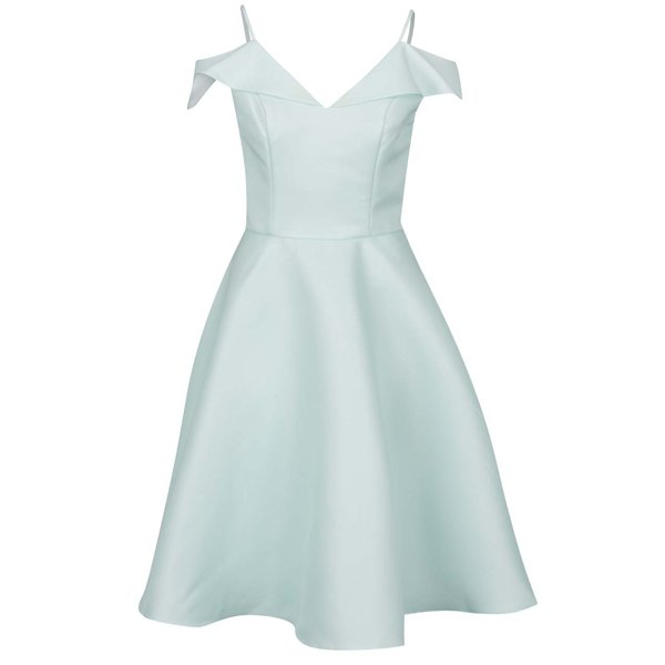 Rochie verde mentă cu bretele subțiri și mâneci căzute Chi Chi London Saydie de la Chi Chi London in categoria rochii de seară