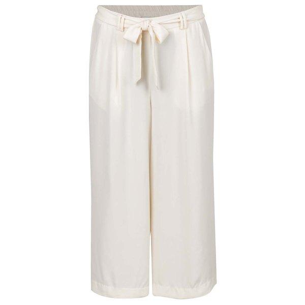 Pantaloni culottes crem VERO MODA Maili cu panglici în talie