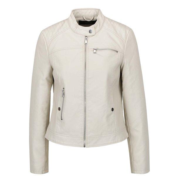 Geacă crem VERO MODA Chanine din piele sintetică de la VERO MODA in categoria Geci, jachete și sacouri